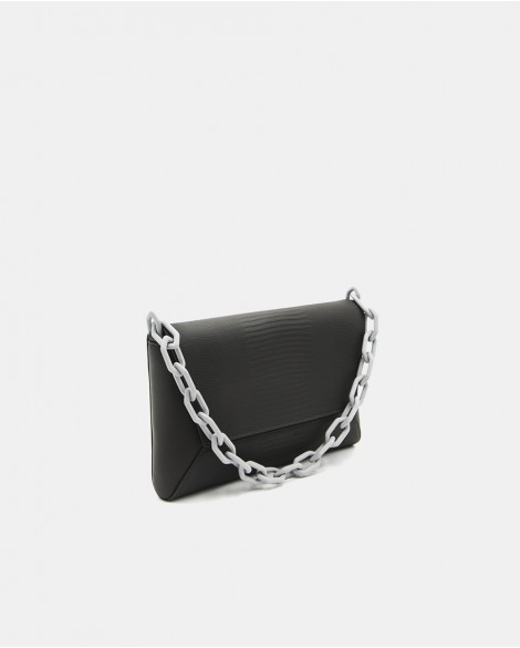 Gray Painita Clutch